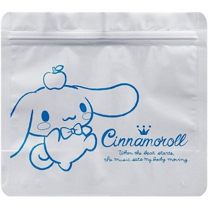 小禮堂 大耳狗 方形鋁製夾鏈袋組 食物分裝袋 密封袋 糖果袋 鋁袋 (5入 銀 蘋果)