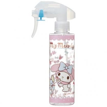 小禮堂 美樂蒂 透明噴霧空瓶 塑膠噴霧罐 酒精噴瓶 分裝瓶 200ml (粉 可麗餅)