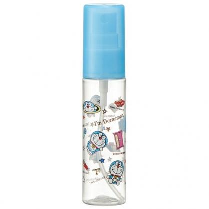 小禮堂 哆啦A夢 隨身透明噴霧空瓶 塑膠噴霧罐 酒精噴瓶 分裝瓶 30ml (藍 滿版)