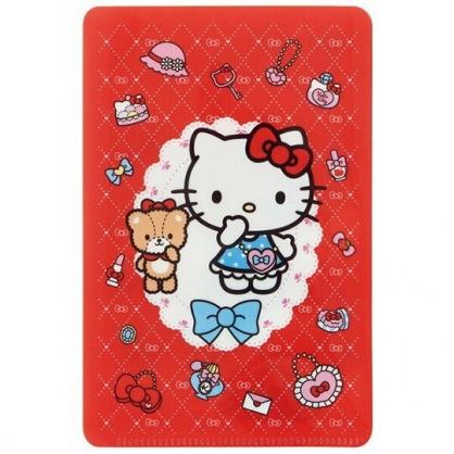 小禮堂 Hello Kitty 兒童扣式口罩夾 面紙包 口罩包 口罩套 口罩收納 (紅 化妝品)