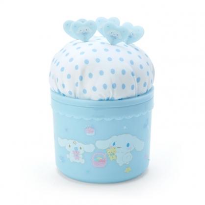 小禮堂 大耳狗 圓形拿蓋針墊收納盒 附針 縫紉收納盒 飾品盒 小物盒 (藍)