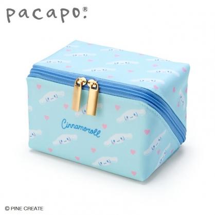 小禮堂 大耳狗 全開式方形尼龍化妝包 防水化妝包 小物包 盥洗包 (藍)