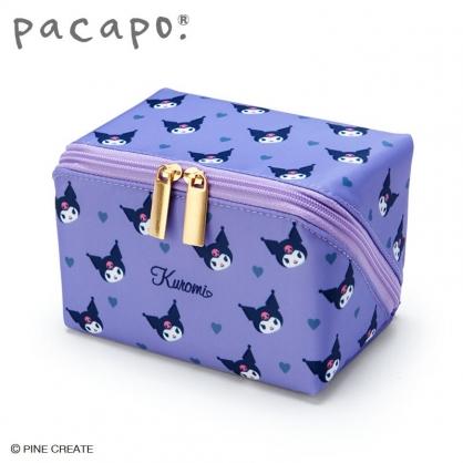 小禮堂 酷洛米 全開式方形尼龍化妝包 防水化妝包 小物包 盥洗包 (紫)