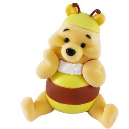 小禮堂 迪士尼 小熊維尼 迷你植絨玩偶 植絨娃娃 掌上公仔 玩偶擺飾 (黃 蜜蜂裝)