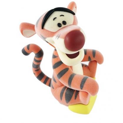 小禮堂 迪士尼 跳跳虎 迷你植絨玩偶 植絨娃娃 掌上公仔 玩偶擺飾 (橘 抬頭)