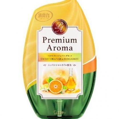 小禮堂 日本雞仔牌 日製 瓶裝室內芳香劑 浴廁芳香劑 除臭劑 橘子香 400ml (棕綠)