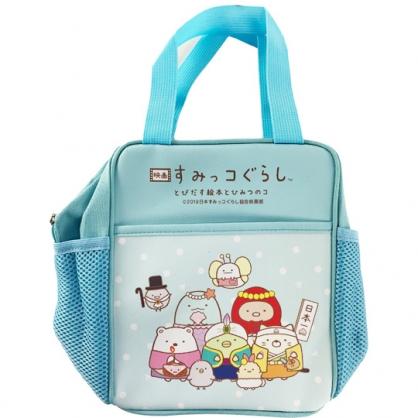 小禮堂 角落生物 方形皮質手提便當袋 野餐袋 手提袋 便當提袋 (藍 童話)