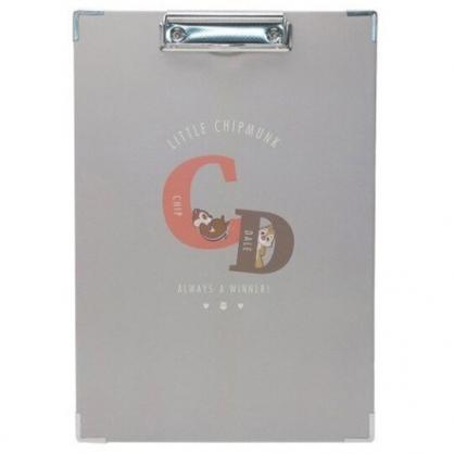 小禮堂 迪士尼 奇奇蒂蒂 A4木質文件夾板 A4板夾 資料板夾  菜單夾 (灰 CD)