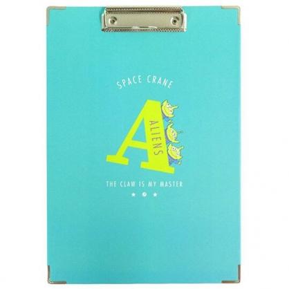 小禮堂 迪士尼 三眼怪 A4木質文件夾板 A4板夾 資料板夾  菜單夾 (藍綠 A)