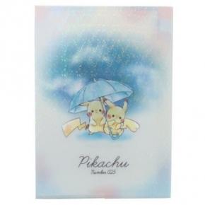 小禮堂 神奇寶貝 日製 A4分類文件夾 資料夾 檔案夾 L夾 (藍白 雨傘)