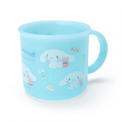 小禮堂 大耳狗 日製 單耳塑膠杯 兒童水杯 漱口杯 小水杯 200ml (藍 甜點)