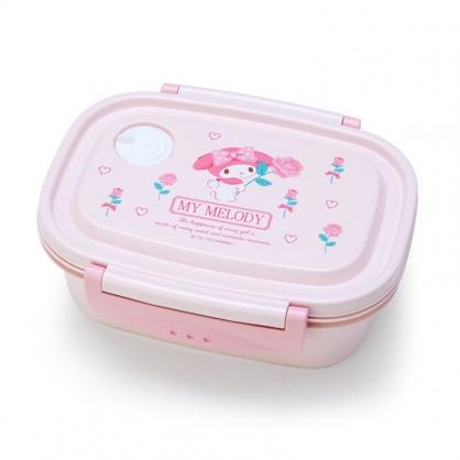 小禮堂 美樂蒂 日製 輕量型微波便當盒 塑膠便當盒 保鮮盒 550ml (粉 玫瑰)