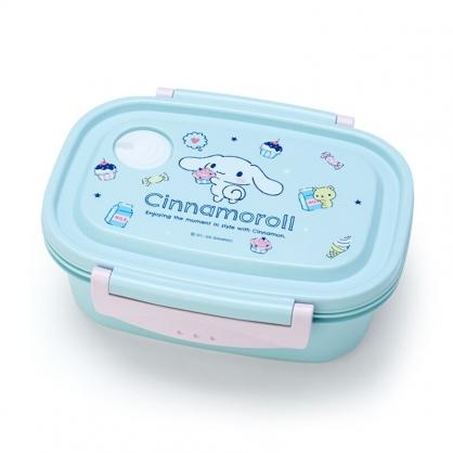 小禮堂 大耳狗 日製 輕量型微波便當盒 塑膠便當盒 保鮮盒 550ml (藍 甜點)