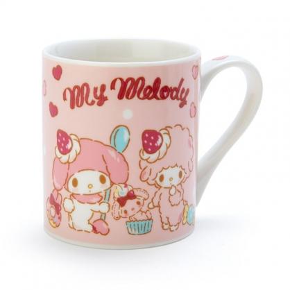 小禮堂 美樂蒂 陶瓷馬克杯 咖啡杯 茶杯 陶瓷杯 230ml (粉紅 草莓)