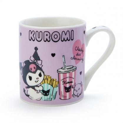 小禮堂 酷洛米 陶瓷馬克杯 咖啡杯 茶杯 陶瓷杯 230ml (紫黑 漢堡)