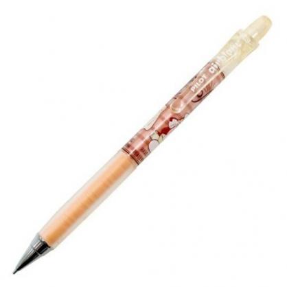 小禮堂 迪士尼 奇奇蒂蒂 日製 極細自動鉛筆 自動筆 0.3mm pilot airblanc (棕 廚師)