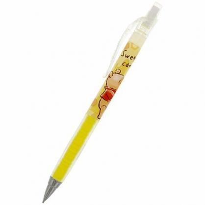 小禮堂 迪士尼 小熊維尼 日製 極細自動鉛筆 自動筆 0.3mm pilot airblanc (黃 蜂巢)