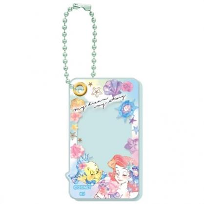 小禮堂 迪士尼 小美人魚 造型壓克力相片吊飾 相框鑰匙圈 相框吊飾 (綠 閉眼)