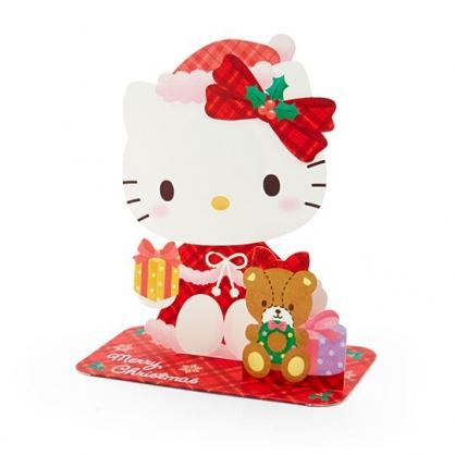 小禮堂 Hello Kitty 可立式造型聖誕卡片 立體卡片 耶誕卡 賀卡 (紅 2020聖誕節)