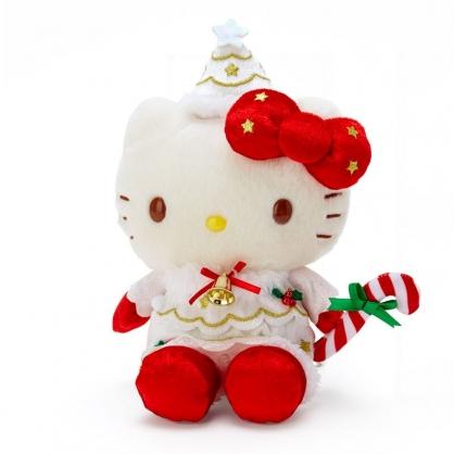 小禮堂 Hello Kitty 沙包玩偶 絨毛玩偶 聖誕娃娃 小型玩偶 布偶 (紅 2020聖誕節)