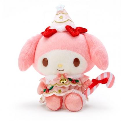 小禮堂 美樂蒂 沙包玩偶 絨毛玩偶 聖誕娃娃 小型玩偶 布偶 (粉 2020聖誕節)