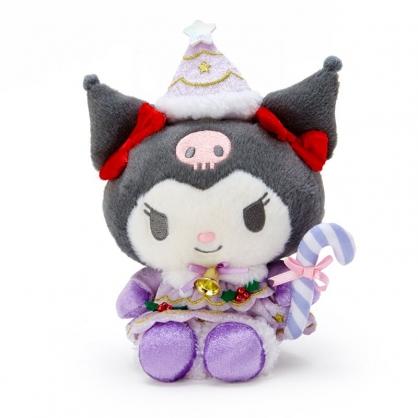 小禮堂 酷洛米 沙包玩偶 絨毛玩偶 聖誕娃娃 小型玩偶 布偶 (紫 2020聖誕節)