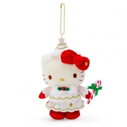 小禮堂 Hello Kitty 絨毛吊飾 玩偶吊飾 聖誕吊飾 玩偶鑰匙圈 (紅 2020聖誕節)