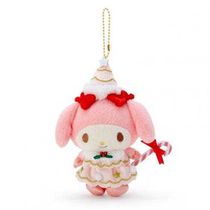 小禮堂 美樂蒂 絨毛吊飾 玩偶吊飾 聖誕吊飾 玩偶鑰匙圈 (粉 2020聖誕節)
