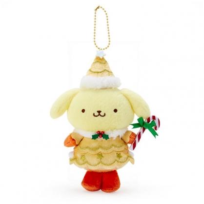 小禮堂 布丁狗 絨毛吊飾 玩偶吊飾 聖誕吊飾 玩偶鑰匙圈 (黃 2020聖誕節)