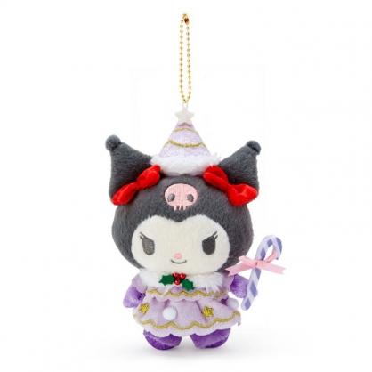 小禮堂 酷洛米 絨毛吊飾 玩偶吊飾 聖誕吊飾 玩偶鑰匙圈 (紫 2020聖誕節)