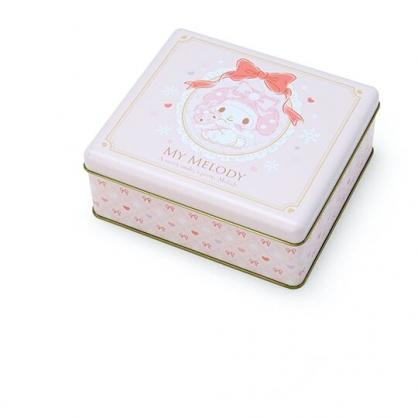 小禮堂 美樂蒂 方形拿蓋收納鐵盒 餅乾盒 糖果盒 飾品盒 鐵空盒 (粉 2020聖誕節)