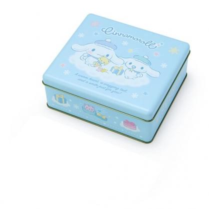 小禮堂 大耳狗 方形拿蓋收納鐵盒 餅乾盒 糖果盒 飾品盒 鐵空盒 (藍 2020聖誕節)