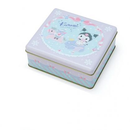 小禮堂 酷洛米 方形拿蓋收納鐵盒 餅乾盒 糖果盒 飾品盒 鐵空盒 (紫 2020聖誕節)