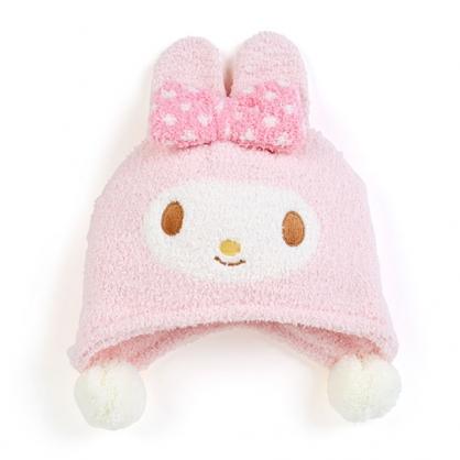 小禮堂 美樂蒂 兒童造型耳朵絨毛帽 玩偶帽 保暖帽 毛帽  (粉 2020冬日特輯)