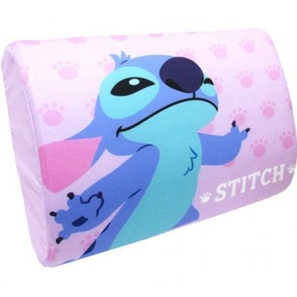 小禮堂 迪士尼 史迪奇 方形棉質枕頭 兒童枕頭 記憶枕 乳膠枕 午睡枕 (紫 張手)