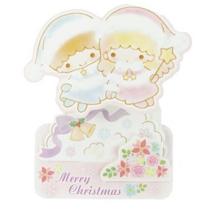 小禮堂 雙子星 可立式造型聖誕卡片 立體卡片 耶誕卡 賀卡 (紫 2020聖誕節)