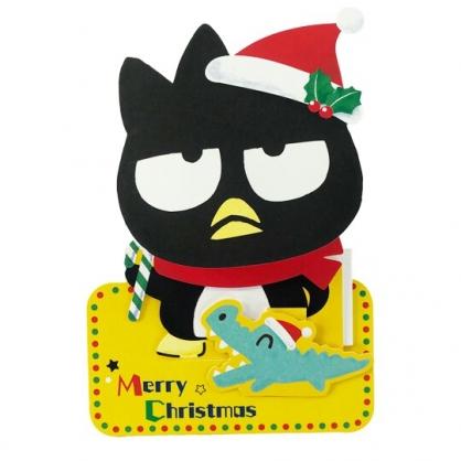 小禮堂 酷企鵝 可立式造型聖誕卡片 立體卡片 耶誕卡 賀卡 (黑 2020聖誕節)