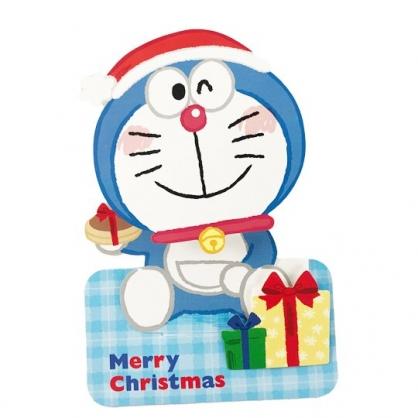 小禮堂 哆啦A夢 可立式造型聖誕卡片 立體卡片 耶誕卡 賀卡 (藍 2020聖誕節)