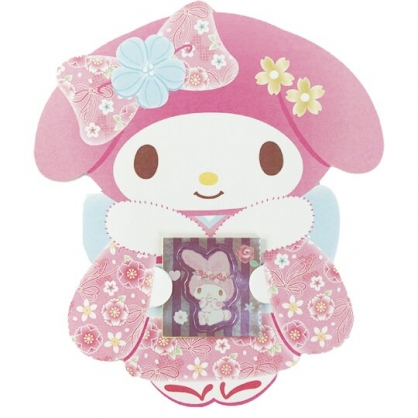小禮堂 美樂蒂 日製 迷你造型新年紅包袋 壓歲錢袋 禮金袋 信封袋 (3入 粉 和服)