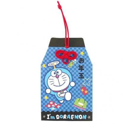 小禮堂 哆啦A夢 日製 迷你造型新年紅包袋 壓歲錢袋 禮金袋 信封袋 (藍 御守)