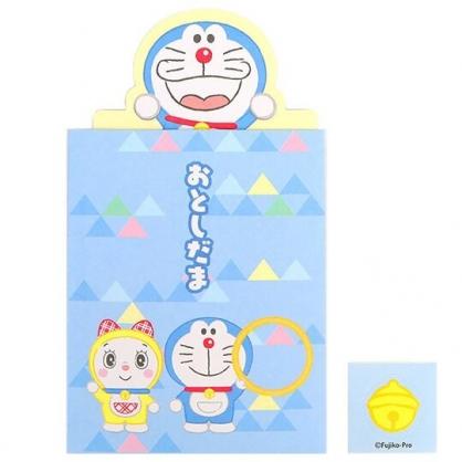 小禮堂 哆啦A夢 日製 迷你造型新年紅包袋 壓歲錢袋 禮金袋 信封袋 (藍 小叮鈴)