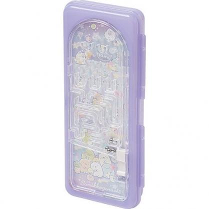 小禮堂 角落生物 硬殼塑膠掀蓋鉛筆盒 遊戲筆盒 塑膠筆盒 鉛筆袋 (紫 彈珠台)