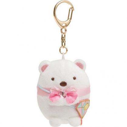 小禮堂 角落生物 北極熊 絨毛吊飾 玩偶吊飾 玩偶鑰匙圈 包包吊飾 (白 鑽石)
