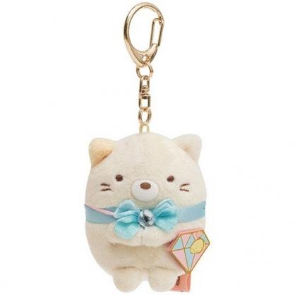 小禮堂 角落生物 貓咪 絨毛吊飾 玩偶吊飾 玩偶鑰匙圈 包包吊飾 (黃 鑽石)