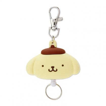小禮堂 布丁狗 造型矽膠伸縮鑰匙圈 易拉扣鑰匙圈 玩偶鑰匙圈 (黃 大臉)