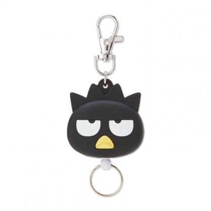 小禮堂 酷企鵝 造型矽膠伸縮鑰匙圈 易拉扣鑰匙圈 玩偶鑰匙圈 (黑 大臉)