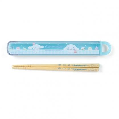 小禮堂 大耳狗 日製 天然竹筷 附盒 兒童筷 木筷 環保筷 16.5cm (藍 甜點)