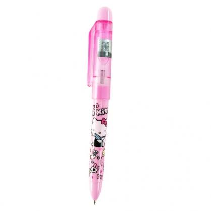 小禮堂 Hello Kitty 旋轉原子筆 自動鉛筆 黑筆 自動筆 0.5mm HB (粉 信封)