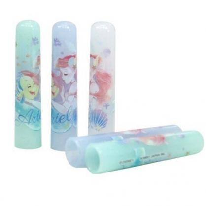 小禮堂 迪士尼 小美人魚 日製 塑膠筆蓋組 鉛筆筆蓋 鉛筆帽 (5入 藍綠 閉眼)