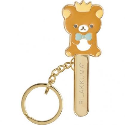 小禮堂 懶懶熊 造型金屬夾式鑰匙圈 鐵鑰匙圈 鐵鑰匙夾 萬用夾 (金 皇冠)
